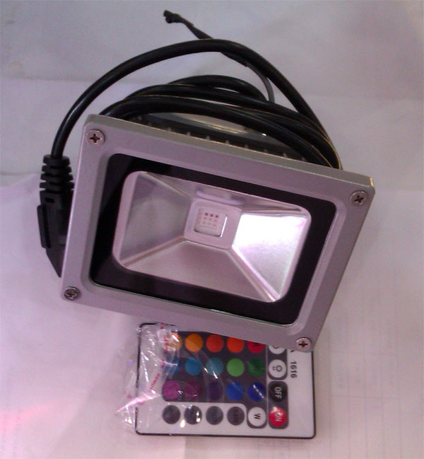 10W_RGB_color_remote_waterproof_outdoor_LED_flood_light