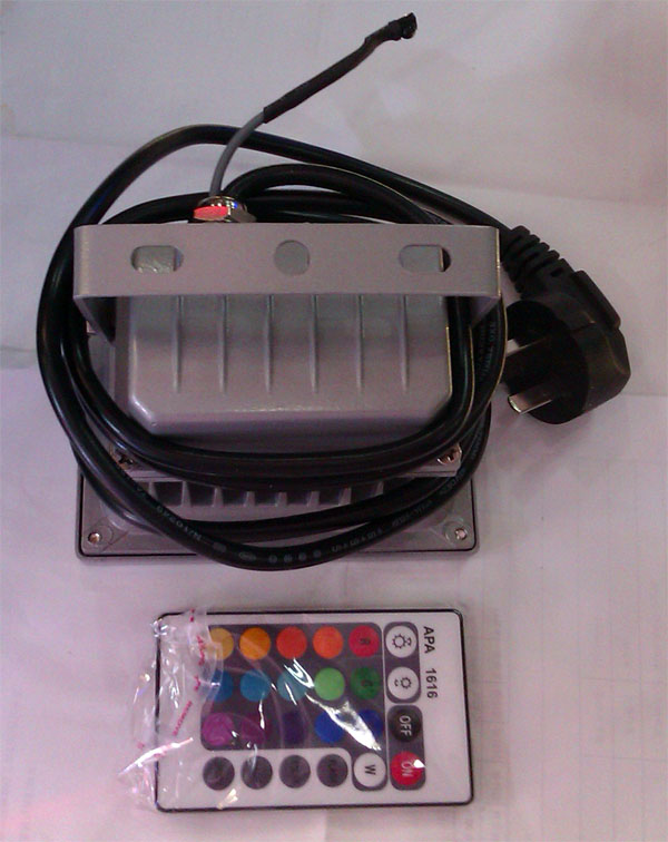 10W_high_power_RGB_color_remote_waterproof_outdoor_LED_flood_light