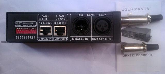 3 channels constant voltage LED DMX decoder