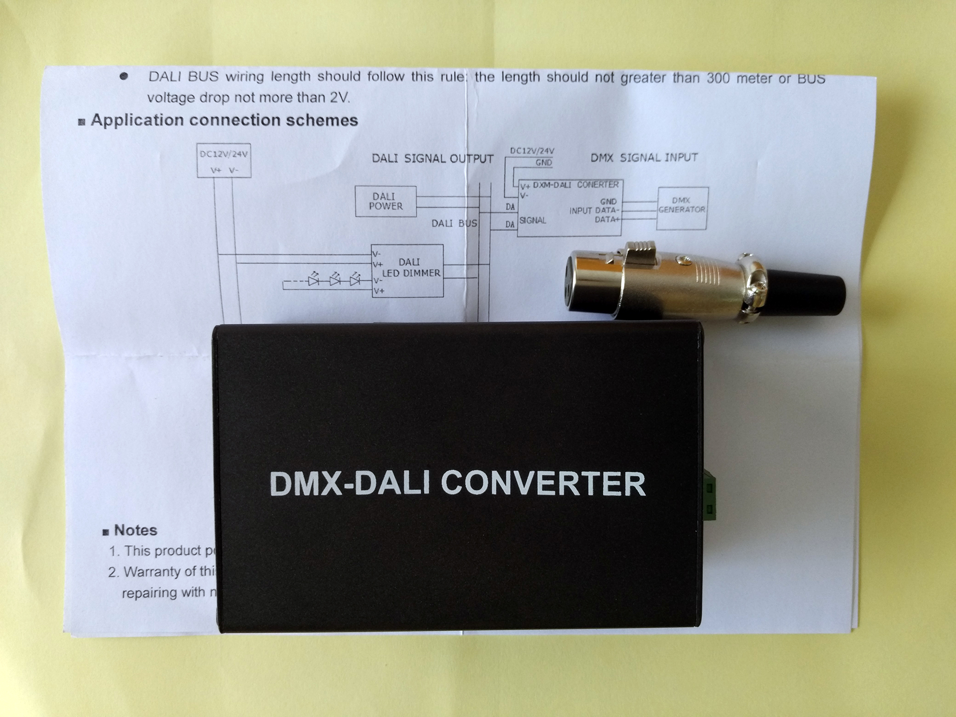 DMX_DALI_converter_controller