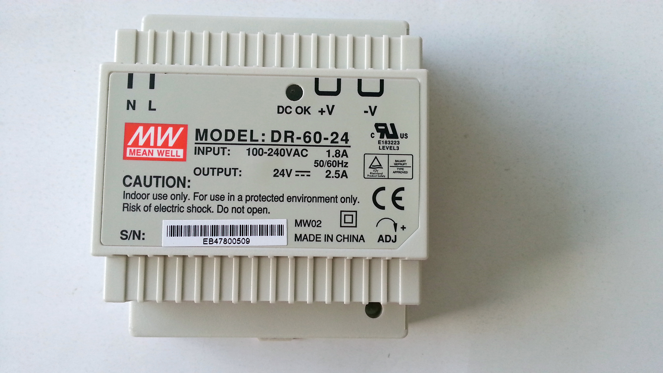 Meanwell_DR_60_single_output_industrial_DIN_rail_power_supply