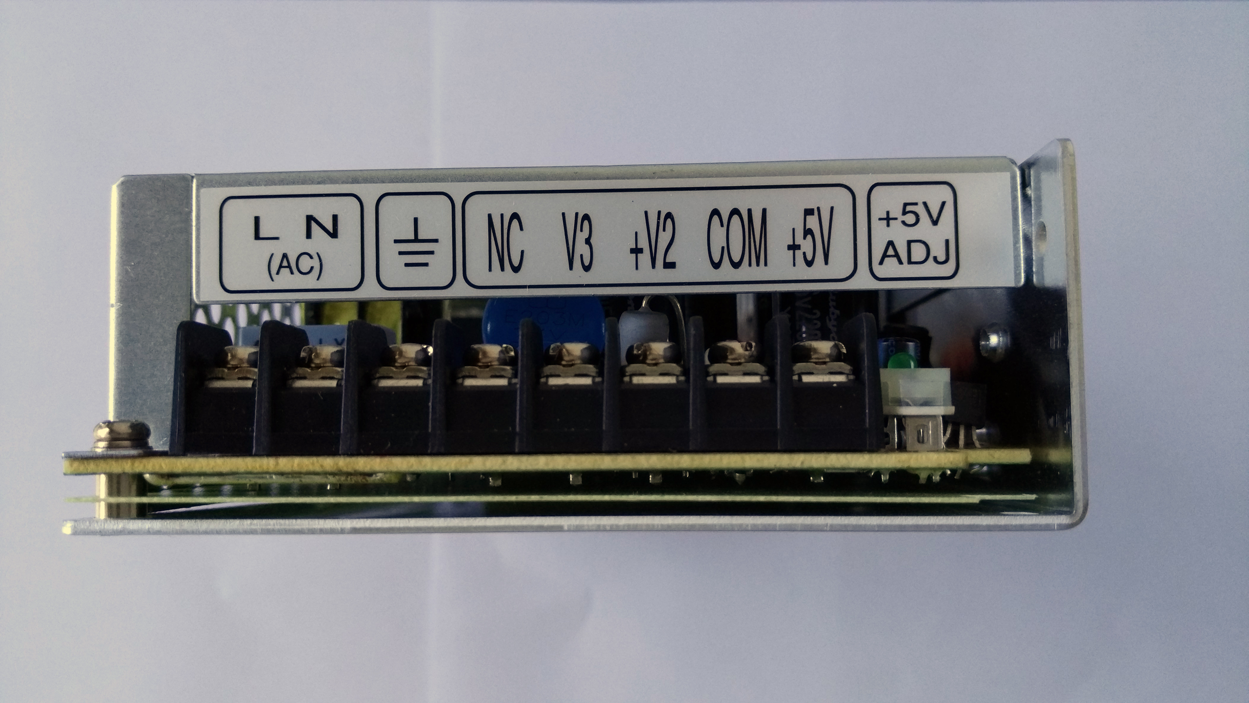 Meanwell_triple_output_RT_125B_power_supply_front