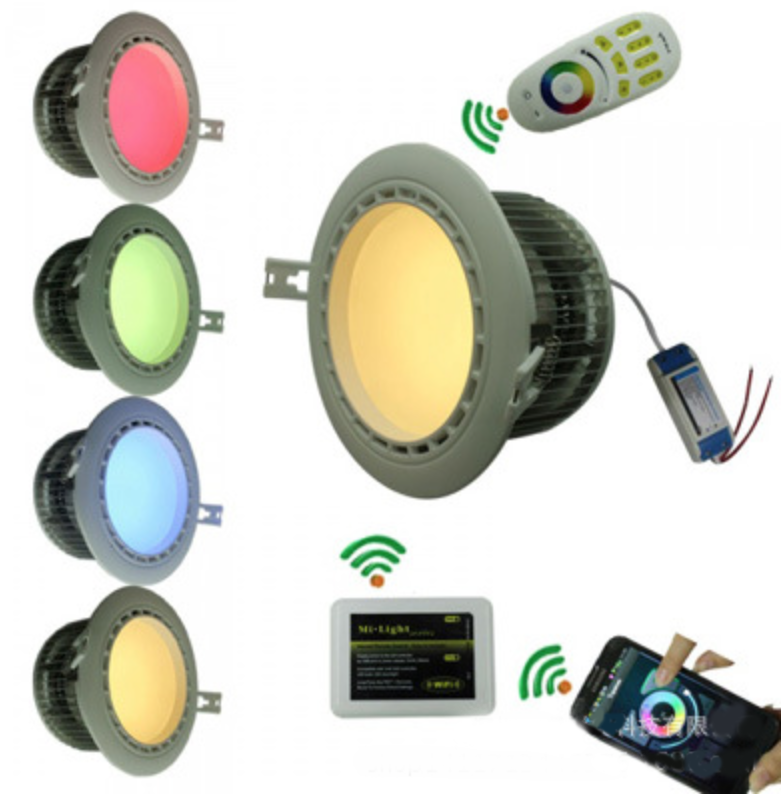 RF_WiFi_wireless_control_12W_RGBW_LED_flood_light_with_driver