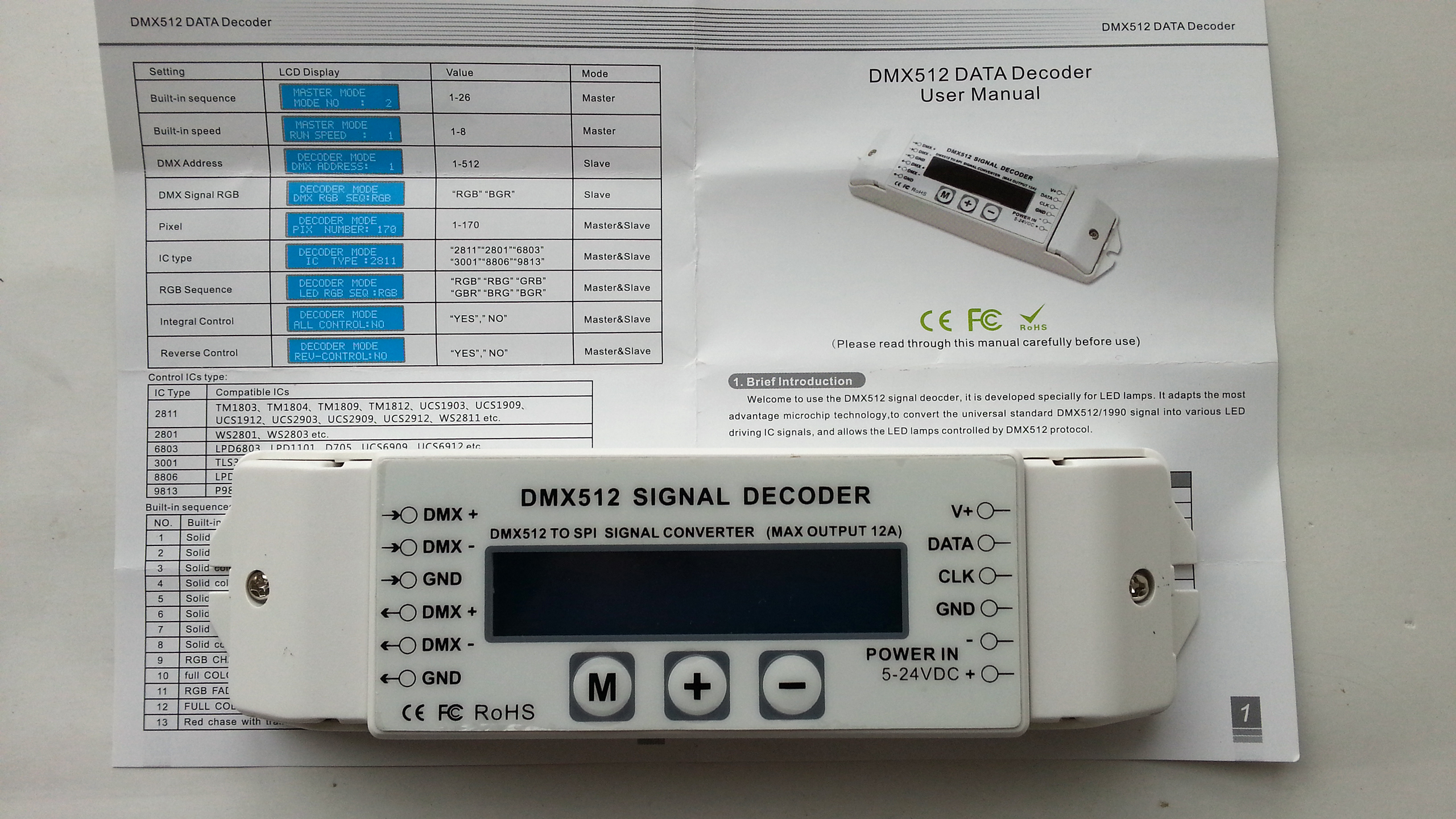 digital_SPI_dream_color_DMX512_signal_decoder_with_display